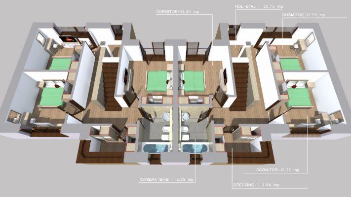 Casa noi Iasi, tip duplex, terasa, parter + etaj