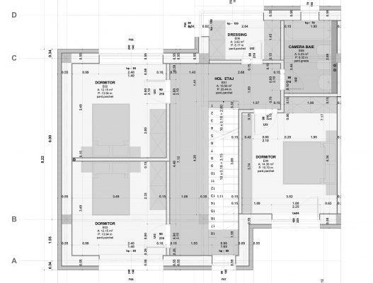 plan etaj - complex rezidential tip duplex iasi