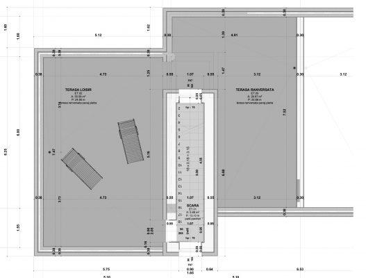 plan terasa - complex rezidential tip duplex iasi